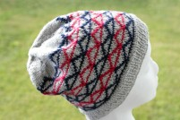 Easy knitting pattern hat geometric pattern color knitting modern knits beanie